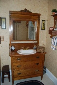 Cute Idea For An Old Dresser/chest. Country Bathroom Vanities