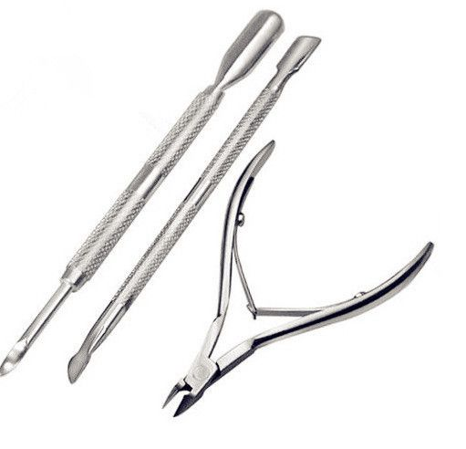 New Hot Sale Fashion 3Pcs Stainless Steel Cuticle Care Nippers Clipper Scoop Pusher Tool Manicure Kit TC0632 | Price: US $2.49 | http://www.bestali.com/goto/32279760370/10