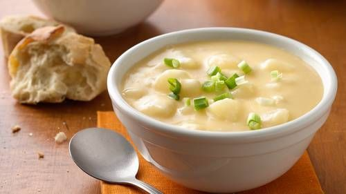 Sajtos burgonya lassú főző leves