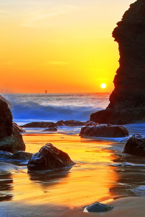 Sunset at Marshall Beach, San Francisco!