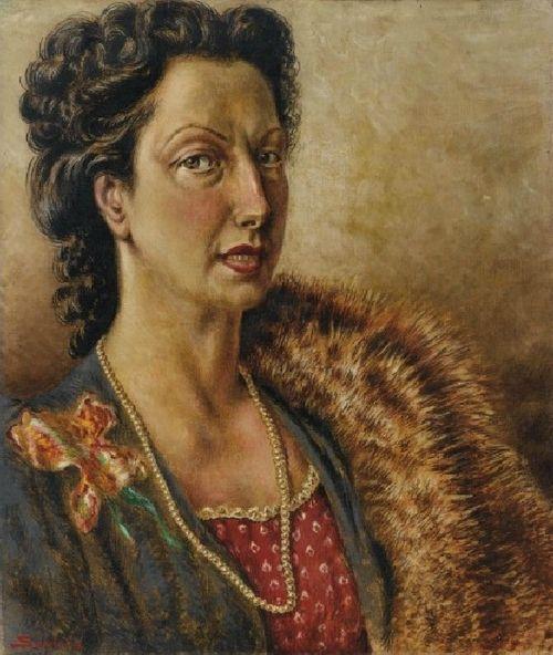 'Portrait of Emilia Santangelo' - Alberto Savinio (1891-1952)