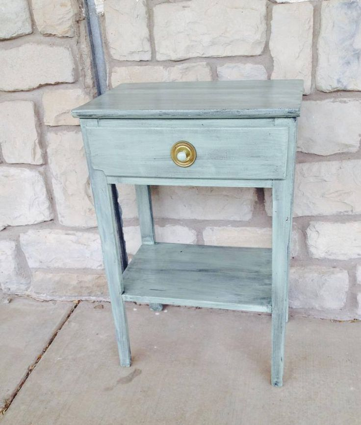 Adorable End Table/decor Table. Glazed And Hand Painted. San AngeloHand  PaintedAuction