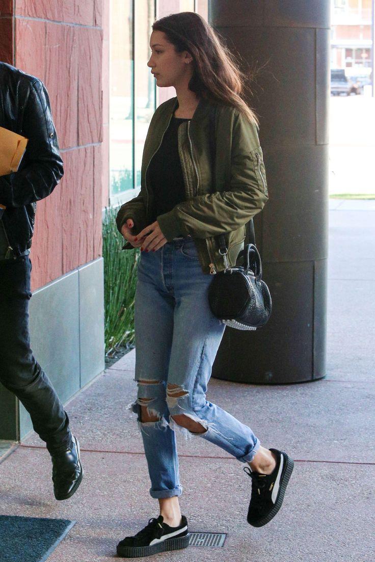 November 25: Bella Hadid arriving at a studio in Santa Monica, California.