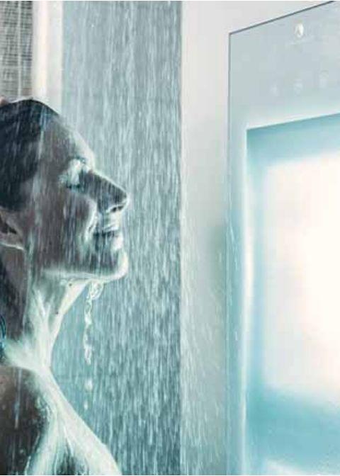 Sunshower biedt u de middelen om te genieten van een heerlijke infrarood douche.