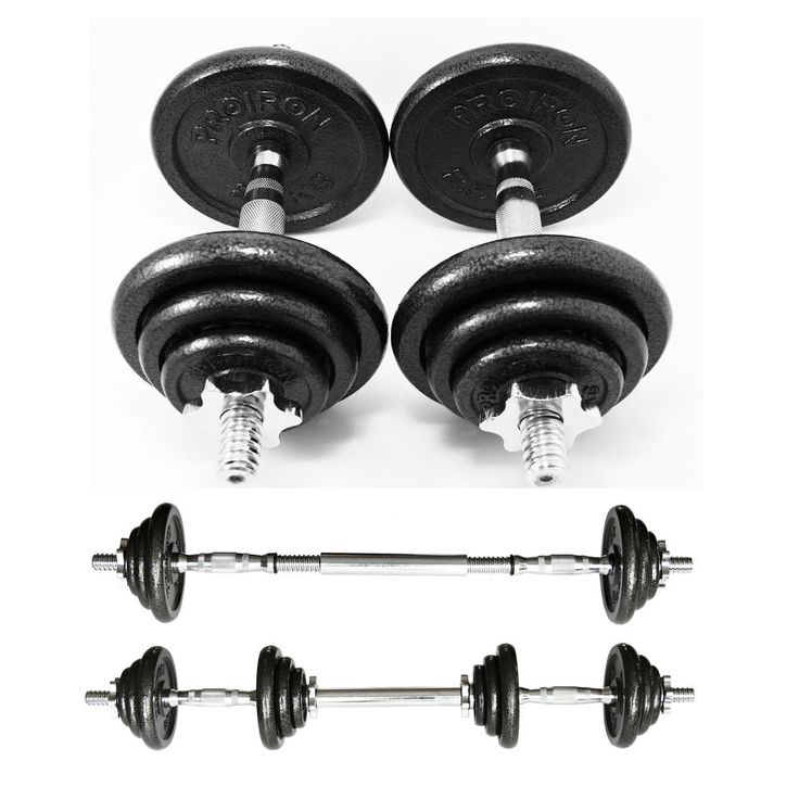 PROIRON 20KG Cast Iron Adjustable Dumbbell Set for Weightlifting Training