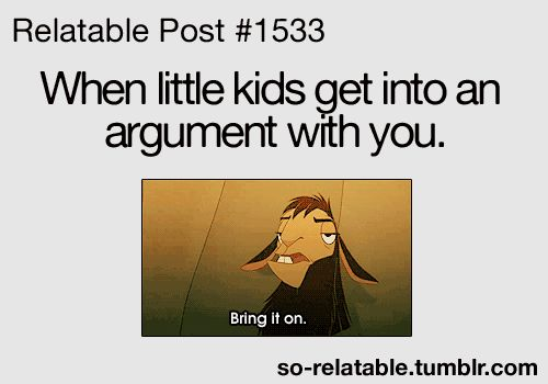 """Bring it on. Especially when it comes to Disney and they """"know"""" they know more than you do! hahahaha"""