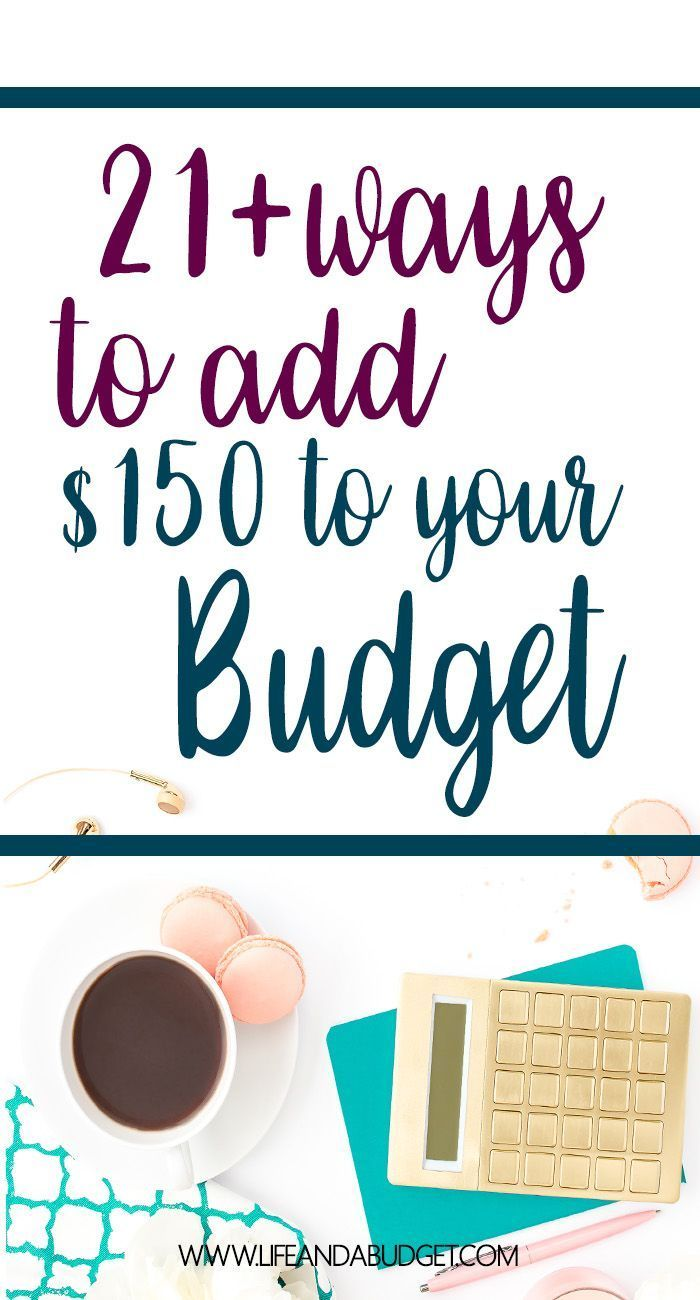 21+ ways to earn extra cash to add more money to your budget each month. via /lifeandabudget/