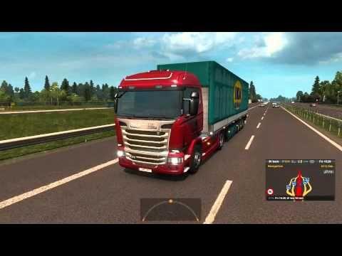 #8 euro truck simulator 2   scania streamline R 370 used packaging trans...