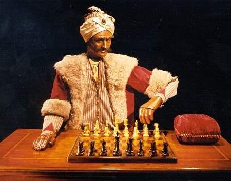 "Think your good at chess?  Then try a game with ""The Turk"" an Automaton that has never lost a chess match even with the most highly skilled chess masters."