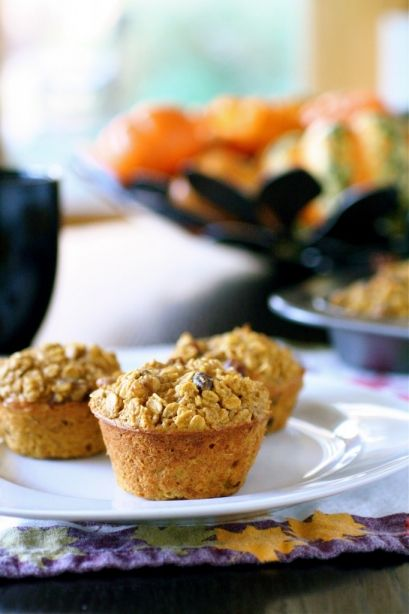 Baked Pumpkin Spice Oatmeal. Changes: added berries to the bottom of ...