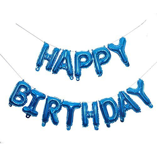 From 7.99 10 Inch Happy Birthday Letter Banner Foil Blue Balloon Party Decorations