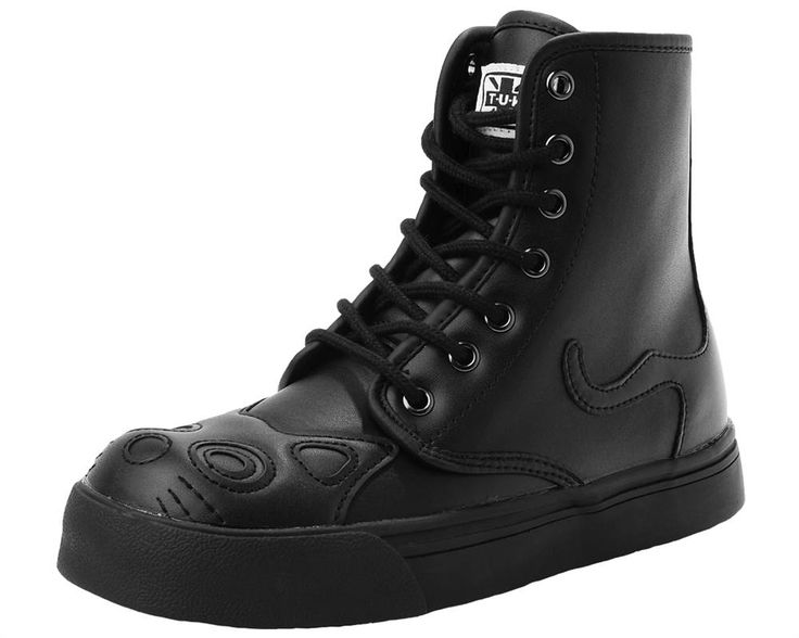Beautiful new Black Gothic Kitty Boots from TUK. These lovely boots feature  the classic TUK