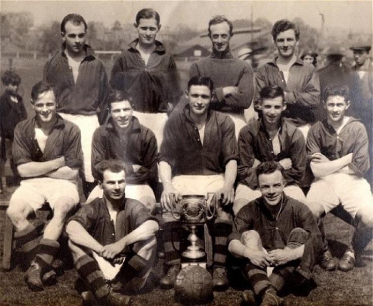 """Newmarket Town Football Club, """"Suffolk Senior Cup"""" 1934-35"""