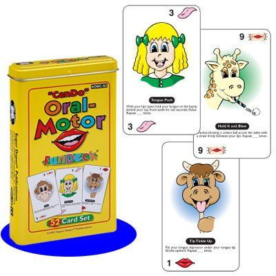 """Can Do"" Oral-Motor Fun Deck Cards - Super Duper Educational Learning Toy for Kids Super Duper® Publications http://www.amazon.com/dp/1586501879/ref=cm_sw_r_pi_dp_OKftub006A7XB"