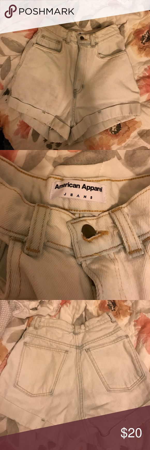 High waisted American Apparel jean shorts American apparel high waisted jean shorts American Apparel Shorts Jean Shorts