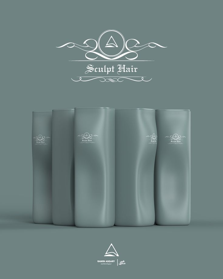 Sculpt Hair - Shampoo bottle designs on Behance