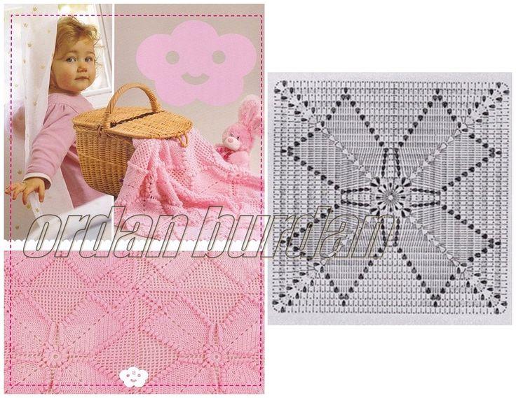 164 mejores im genes sobre mantas colchas cobertores para - Colchas de ganchillo para bebe ...