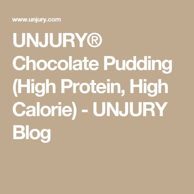 UNJURY® Chocolate Pudding (High Protein, High Calorie) - UNJURY Blog