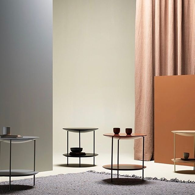 The Pastille side tables by TAF Architects for Fogia