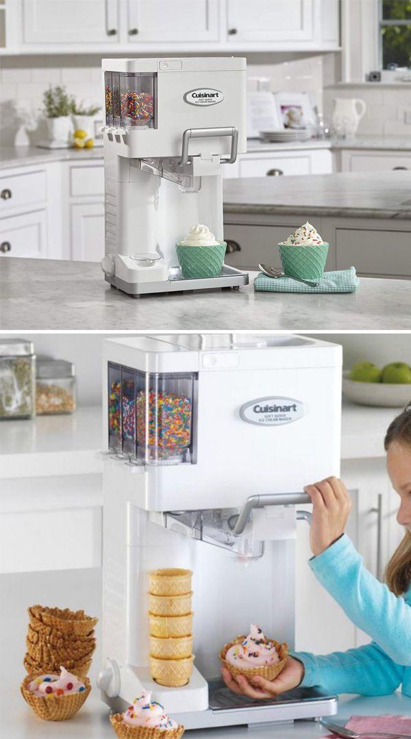 Cuisinart Ice 45 Mix It In Soft Serve Quart Ice Cream Maker White Ice Cream Maker Cuisinart Specialty Appliances