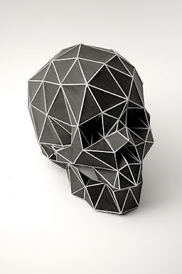 sculp: Sculpture, Inspiration, Vanity, Fashion Style, Triangles, Black White, Christian Fiebig, Geometric Skull, Geometry