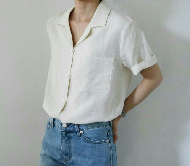 Short sleeved button up shirt