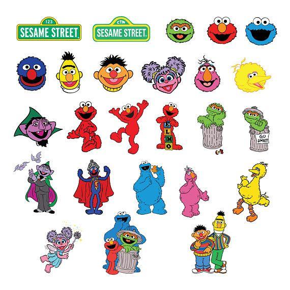 Sesame Street Svg Eps Png Jpg Clipartsprintable Silhouette Sesame Street Sesame Street Birthday Party Ideas Boy Sesame Street Party
