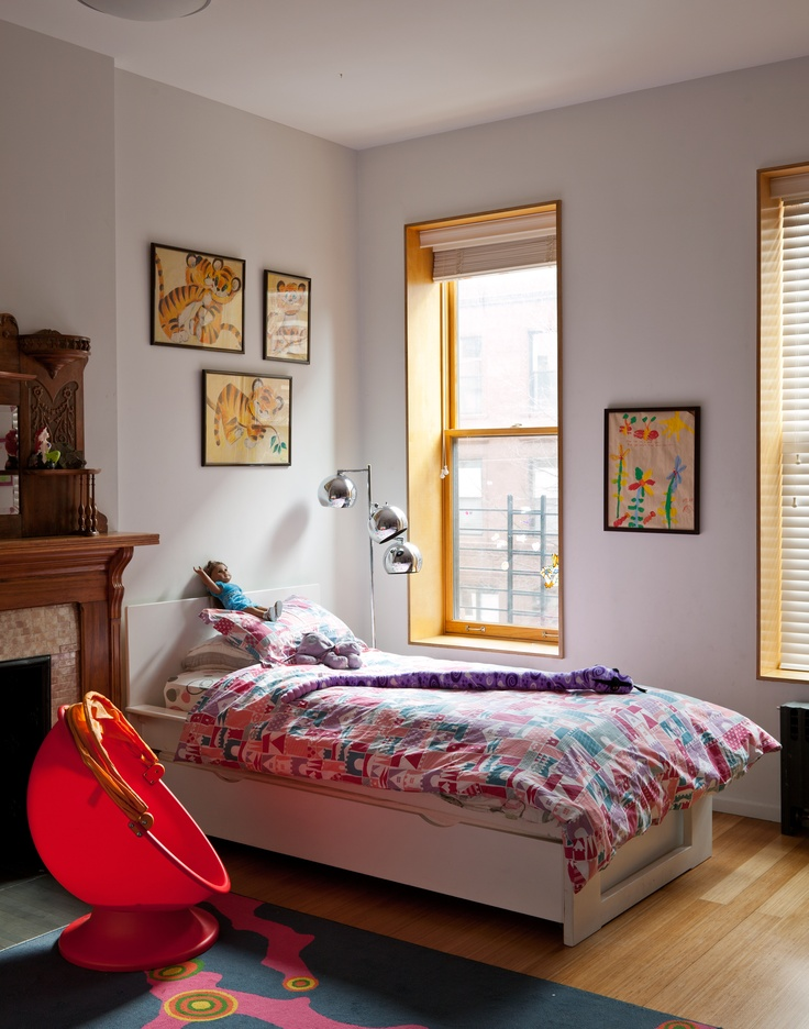 Child's bedroom in Harlem townhouse. Photo: Trevor Tondro for The New York Times: Wall Colors, New York Time, Color Child, Purple Wall, Photo