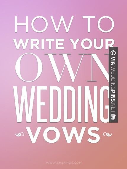 Wow - 7 tips for writing your own wedding vows | CHECK OUT MORE NON TRADITIONAL…