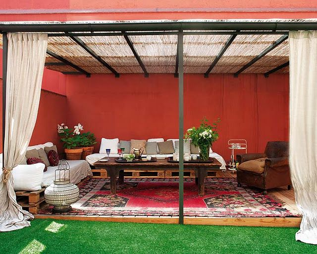 moroccan patio shade structure - Patio Ideas Pinterest
