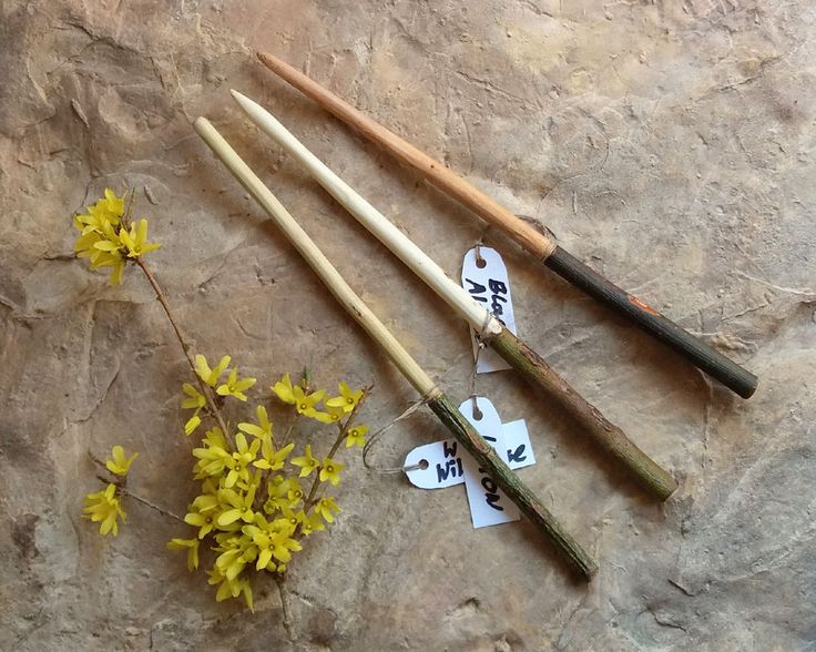 3 Magic wands Wild Rose, Willow and Alder, Magic Wand, hand carved wand, Witches wand, tool for wiccans, Wiccan wand, Pagan wand by WitchTools on Etsy