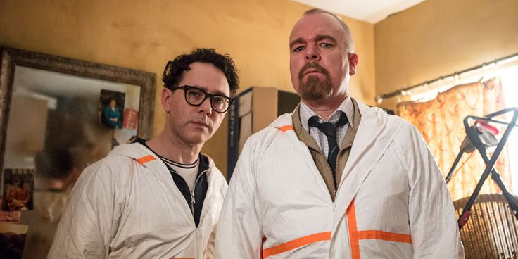 Inside No. 9. Image shows from L to R: Reece Shearsmith, Steve Pemberton. Copyright: BBC.