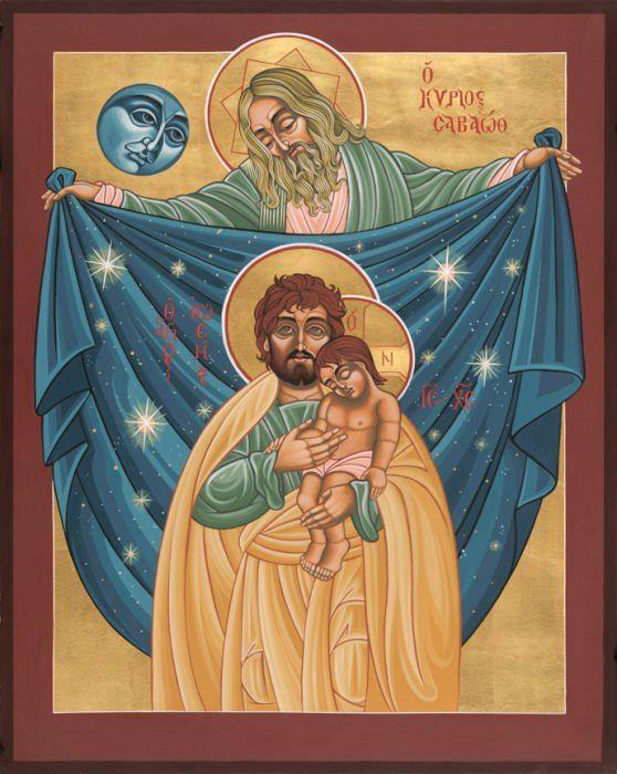 IC.XC__Αγ. Ιωσηφ & ο μικρος Χριστος & Κυριος Σαβαωθ