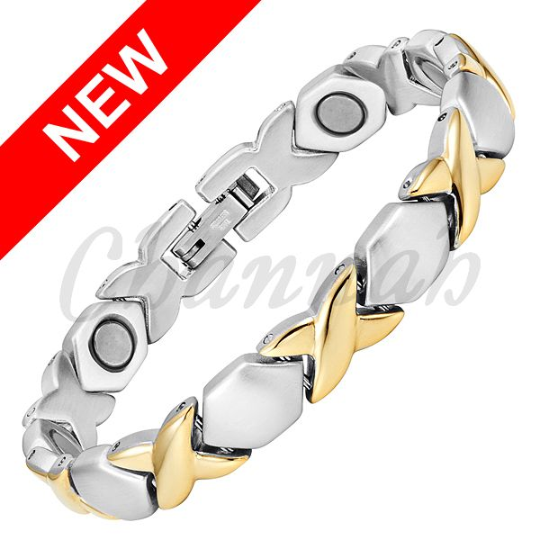 Find More Chain & Link Bracelets Information about 2016 Women 18K Gold Silver Magnetic Stainless Steel Bracelet Special Ladies Bangle Magnets Jewelry Free Shipping Hong Kong Post,High Quality post vinyl,China post cw Suppliers, Cheap jewelry chain link styles from Channah Store on Aliexpress.com