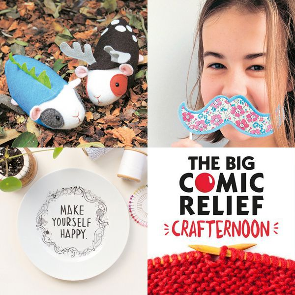 "Love the ""Make Yourself Happy"" plate featured here - THE BIG COMIC RELIEF CRAFTERNOON - Mollie Makes"