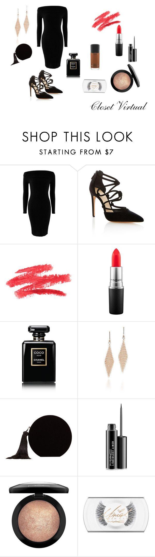 the Basic Black by ednamarizete on Polyvore featuring Alexandre Birman, MANGO, Tiffany & Co., MAC Cosmetics and Chanel