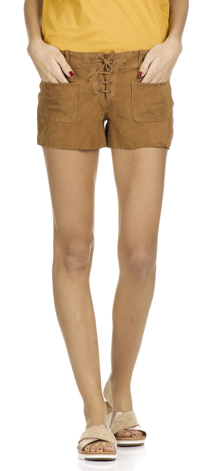 Short Prince de Galles Carreaux marron short femme daim 78c6eba16a5
