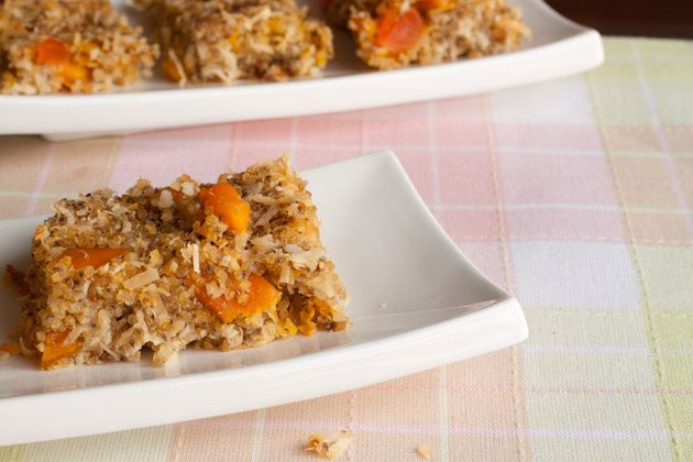 Tropical Quinoa Health Bars with Papaya, mango, and coconut (1) From: Healthful Pursuit, please visit