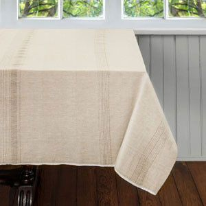 Handmade table cloth from India