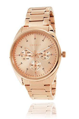 Esprit / rose gold coloured stainless steel watch