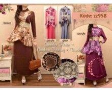 jual baju busana muslim murah pusat grosir maxi long dress model trendy dan modis bisa juga buat ke pesta