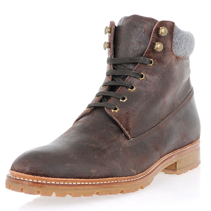 CORNELIANI New Man Brown Leather Ankle Booties Hiking Boots Shoes Sneakers  10 uk