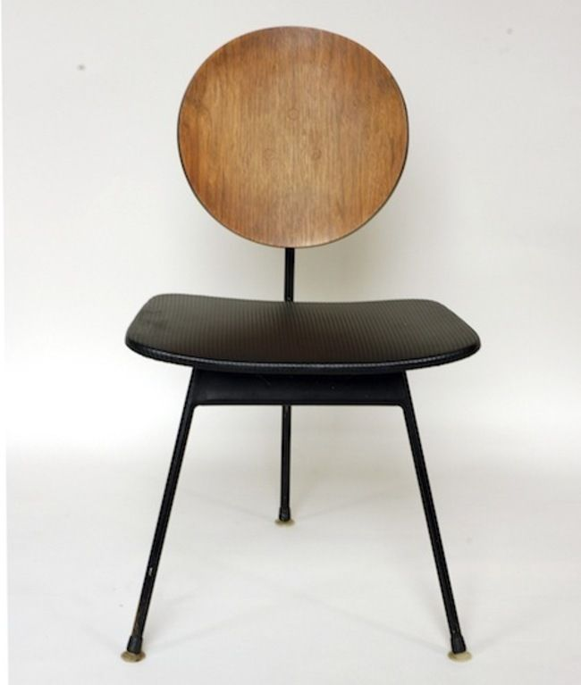 three-legged dining chair designed in 1958 by Stefan Siwinski Designs and Korina Designs