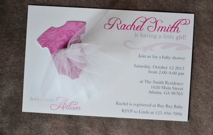 3d tutu baby girl shower invitations tutu excited 8 invitations and
