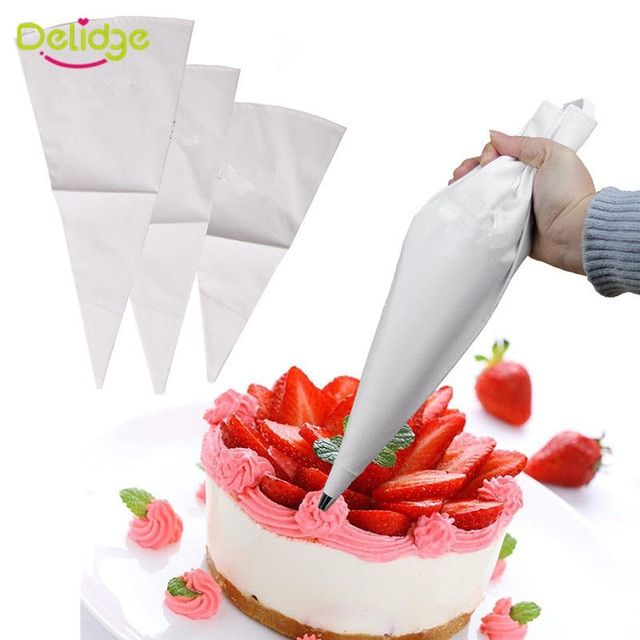 Delidge 1pc Cloth Cake Pastry Bags Re Useable Cookies Biscuits Dessert Icing Piping Bag Fondant Cake Decorating Pas Bag Cake Cake Decorating Icing Piping Icing