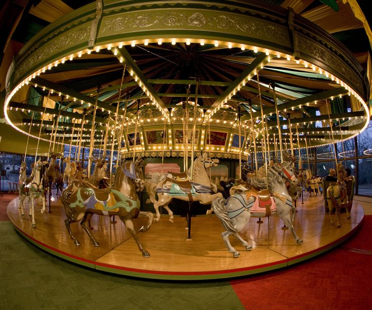 Ride the Carousel! What do you do when your little girl requests a pony for her birthday? Book her a party at the St. Louis Carousel in Faust Park. Crafted in the 1920s, the horses never fail to delight—even if they are one-trick ponies, forever destined to go round and round.