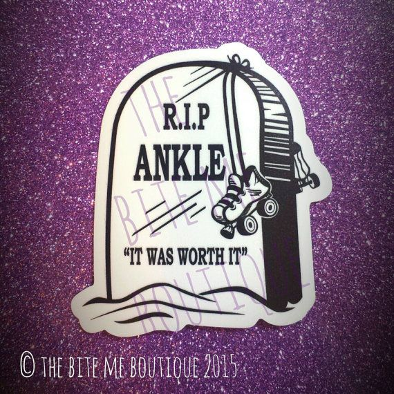 RIP Ankle, Roller Derby Decal