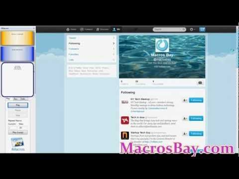 Twitter Bot - Auto Follow, UnFollow, Scrape ids, Retweets
