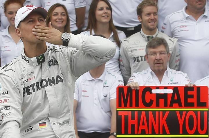 Michael Schumacher se despide de la Fórmula 1