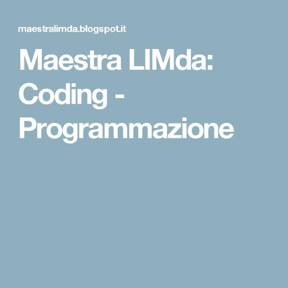 Maestra LIMda: Coding - Programmazione